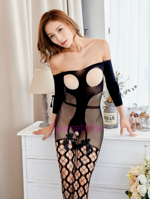Open Cup Fishnet Bodystocking