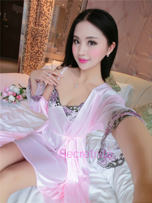 Silky Charmeuse Light Pink Robe Beautiful Chemise