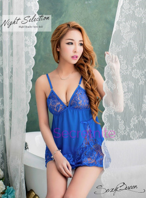 Evening Romance Lace and Mesh Babydoll