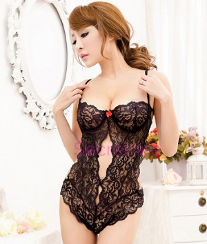 Glamour Underwire Sheer Lace Teddy