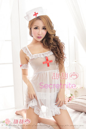 Naughty Nurse Babydoll Costumes Set