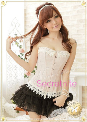 Creamy Love with Lace Sexy Corset