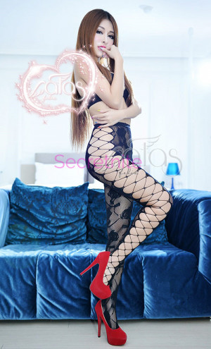 Diamond Net and Lace Pantyhose